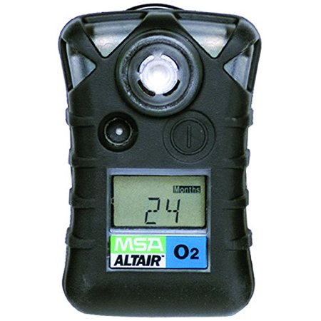 MSA 10092523 ALTAIR Single Gas Detector, Oxygen (O2), Low Alarm 19.50%, High Alarm 23.00%