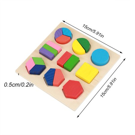 TOPINCN Kids Educational Wooden Toy Set Geometric Block Building Puzzle Baby Early Learning Tool, Wooden Block Toy, Wood building Blocks - image 5 de 7