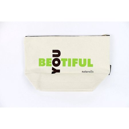 Makeup Bag; Washable Canvas Cosmetics Pouch With Zipper for Beauty & Make Up Products Organizer; Best for Travel Storage for Toiletry & Haircare - Purse
