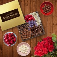 Andy Anand's Dark Chocolate covered 6 Different 3 oz. each of Cranberries, Coffee, Cherry, Ginger, Blueberry, Greek Yogurt Cranberry 1.2 lbs for Birthday, Valentine Day, Christmas, Mothers Fathers Day