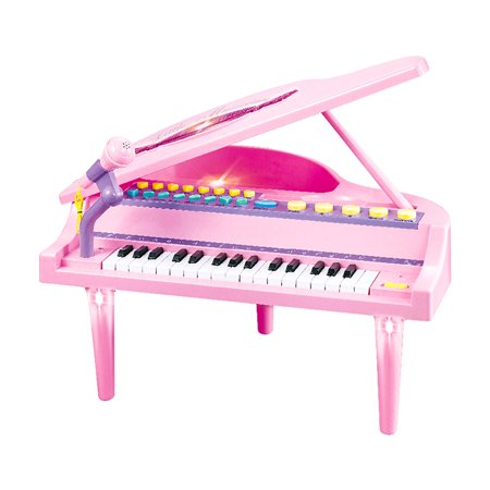 KARMAS PRODUCT 32 Keys Little Pink Piano for Girls with Microphone Electronic Organ Music Keyboard for Kids ()