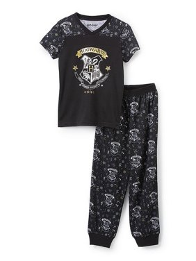 Product Image Harry Potter Girls  Hermione Hogwarts Crest Magic Wizard   Athletic Jogger Pajama Set 511147ef1