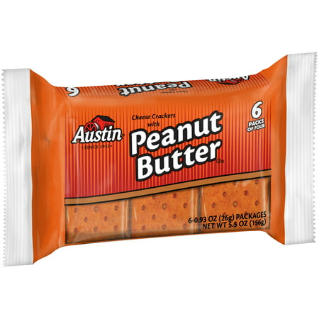 Austin® Cheese Crackers with Peanut Butter 24-5.5 oz. - Butter Cheese