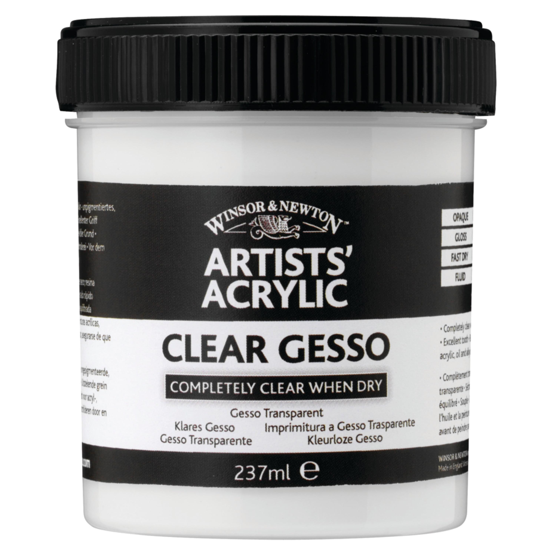 Winsor & Newton Artists' Acrylic Gesso, 237ml Jar, Gloss