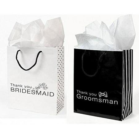 Wedding Gift Bags Walmart : 12 Pc Wedding party Gift Bag Assortment - Includes 6 Bridesmaid 6 ...