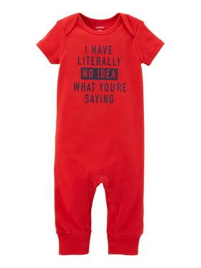 fe5929ddedb4 Red Baby Boys Rompers   One-pieces - Walmart.com