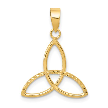 14k Yellow Gold 3 Point Star Pendant Charm Necklace Celtic Claddagh Fine Jewelry For Women Gift Set