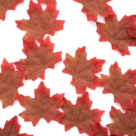 50Pcs/Pack Delicate Fall Artificial 8cm Maple Leaves for Weddings Events Decorating Coffee Minuteman Maple Leaf