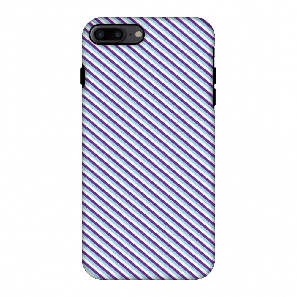 iPhone 7 Plus CasePremium Handcrafted Designer Shockproof Dual Layer Protection Cover Printed Hard Back Case With Screen Cleaning Kit for iPhone 7 Plus-Checkered In Purple