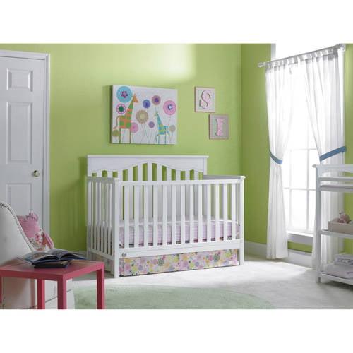 baby mod mini 2 in 1 convertible crib white