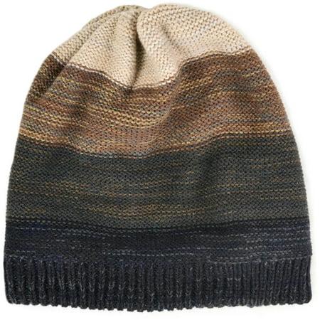 MUK LUKS Men's Ombre Knit Slouch Beanie fashion Comfort Knit Soft