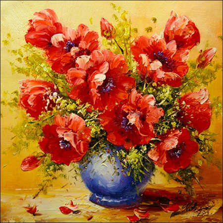 1304236f72 Diamond Painting by Number Kits-DIY Full Drill Embroidery Cross Stitch Paint /5D Diamond Art Craft for Home Wall Decor (Flower 8x8 inch) - Walmart.com