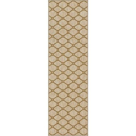Carolina Weavers Simplicity Collection Trafalgar Khaki Runner - 2