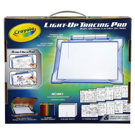 Crayola Light-up Tracing Pad Blue, Coloring Board for Kids, Gift, Toys for Boys, All Ages above 6 (Crayola Coloring Pages Halloween)