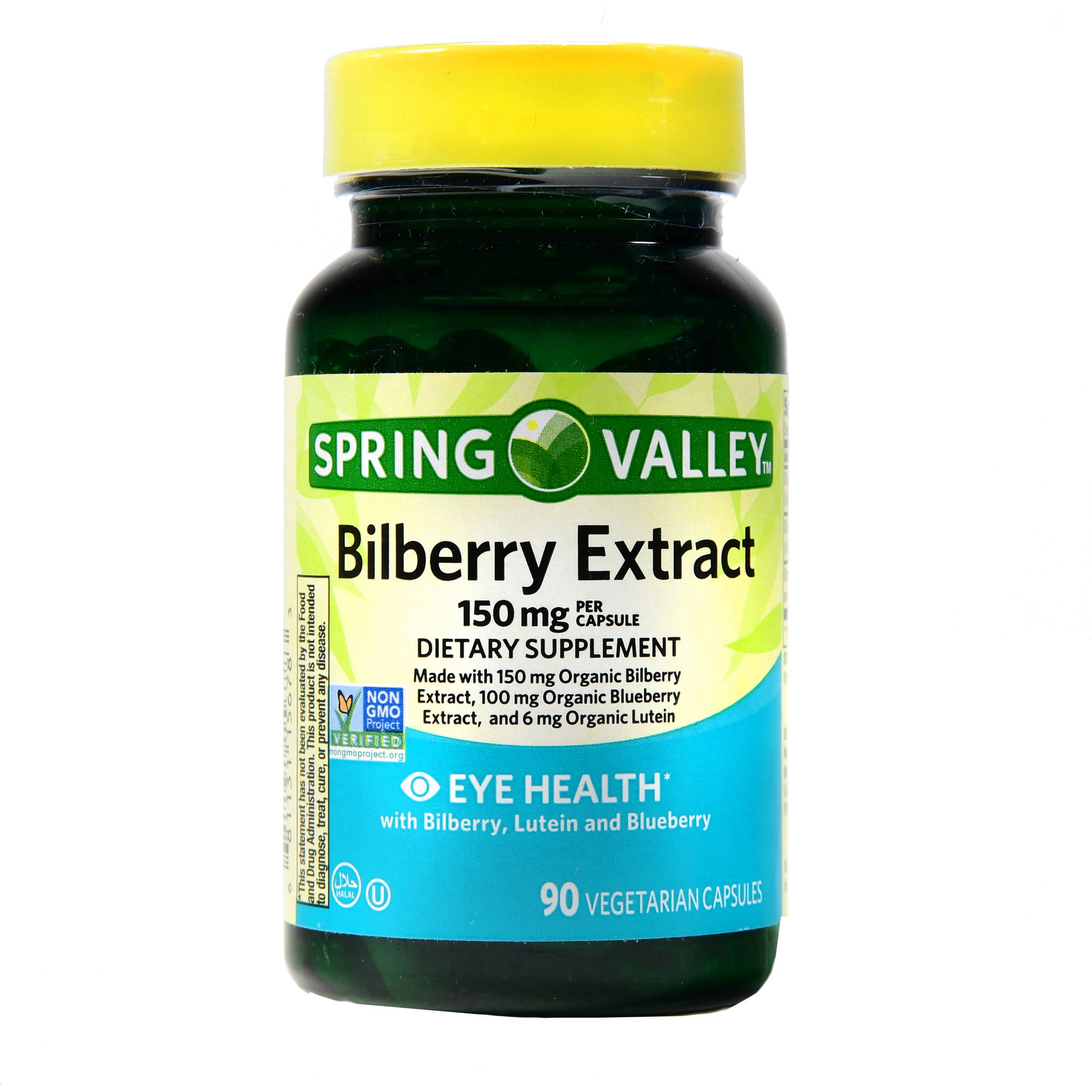 (2 Pack) Spring Valley Bilberry Extract With Lutein & Blueberry Capsules, 150 mg, 90 Ct