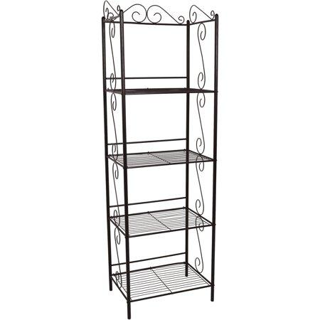 "Monarch Bookcase 70""H / Copper Metal Etagere"