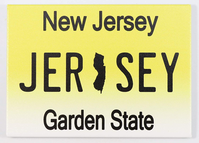 "NEW JERSEY LICENSE PLATE FRIDGE COLLECTOR/'S SOUVENIR MAGNET 2.5/"" X 3.5/"""