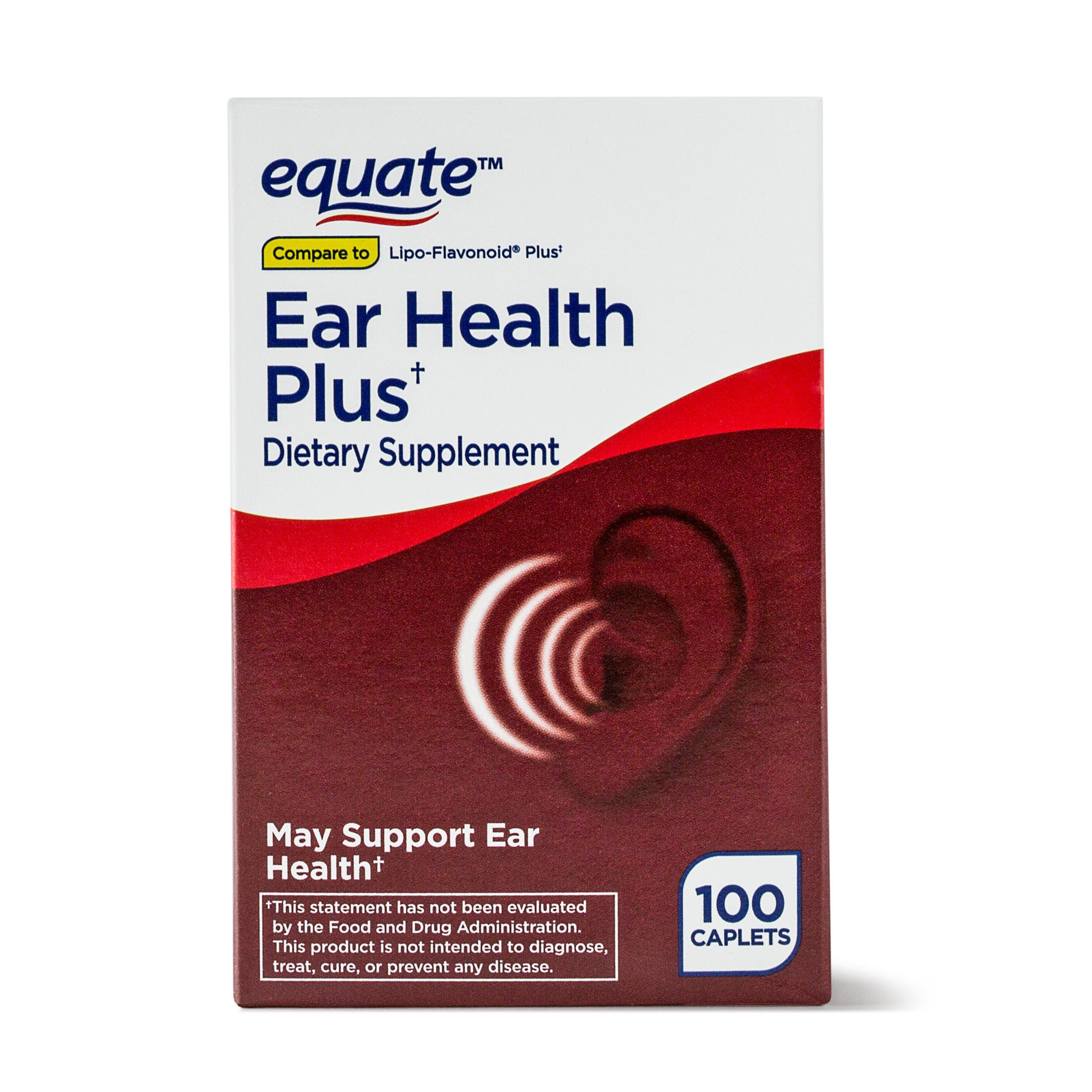 Equate Ear Health Plus, 100 Ct