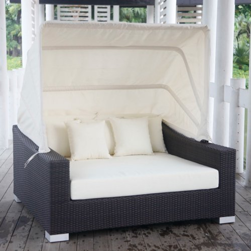 Source Outdoor King Collection All Weather Wicker Outdoor Day Bed