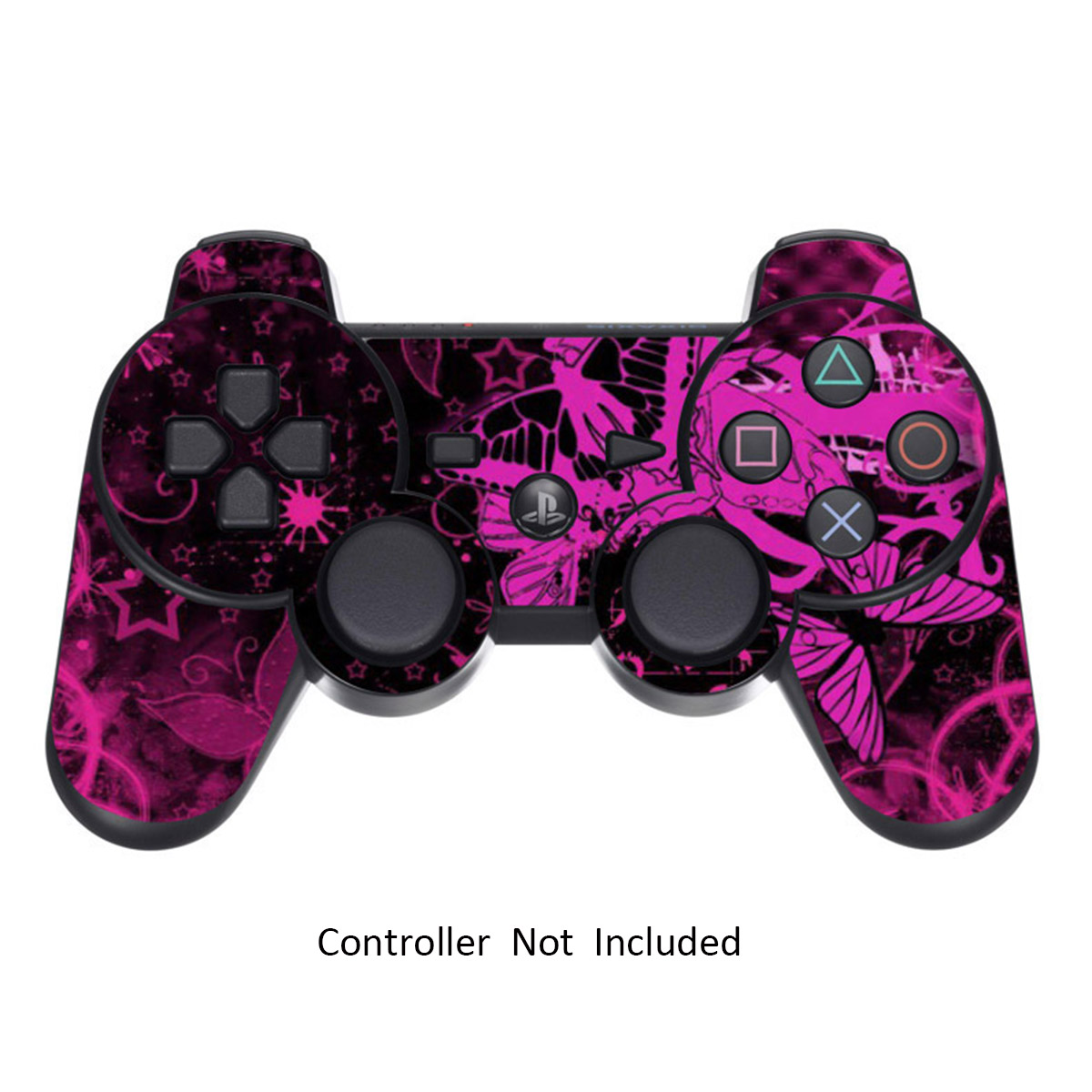 Skin Stickers for Playstation 3 Controller - Vinyl Sticker for DualShock 3 Wireless Game PS3 Sixaxis Controllers - Protectors Sticker Controller Decal Pink Butterfly