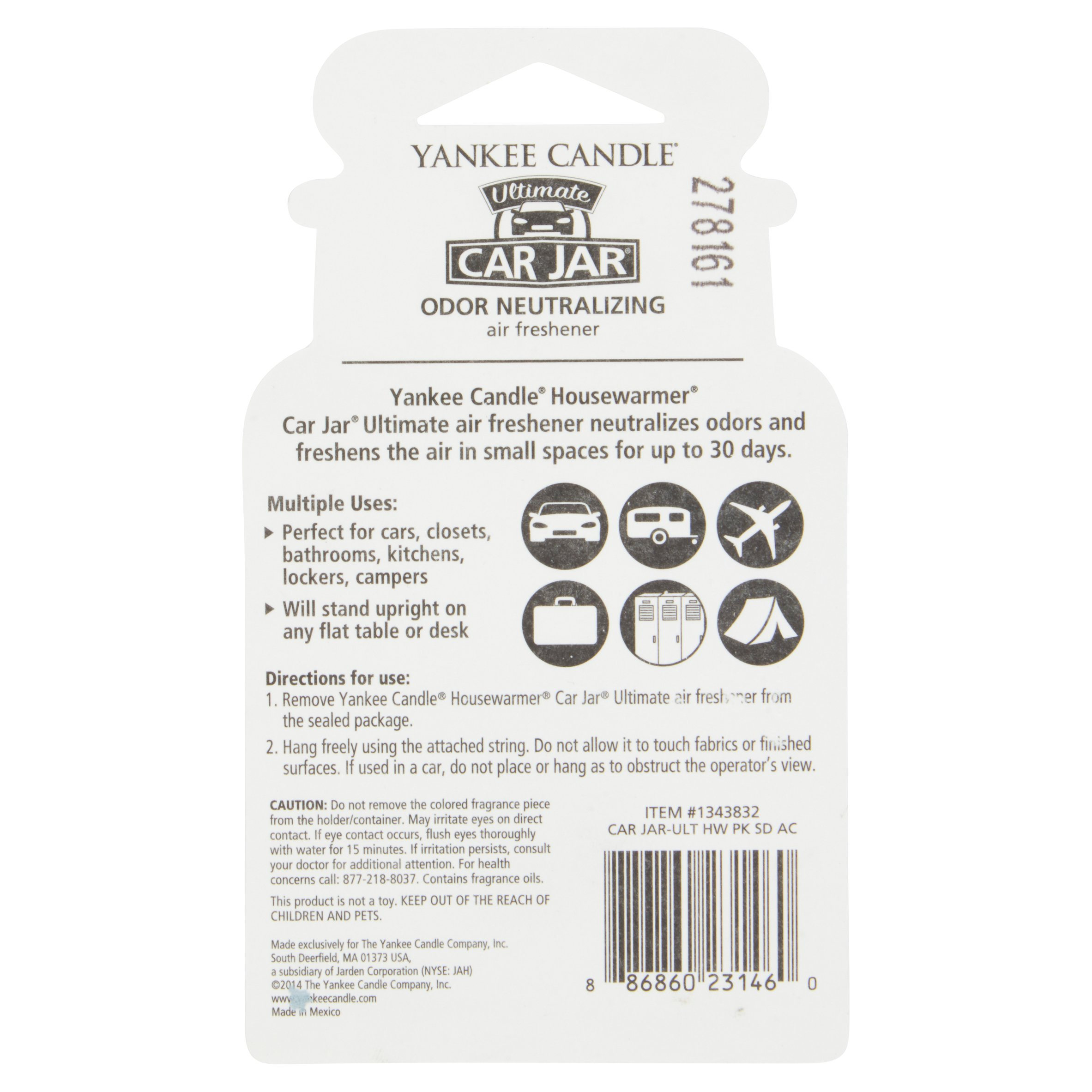 Yankee Candle Country Kitchen Yankee Candle Ultimate Car Jar Pink Sands Air Freshener Walmartcom