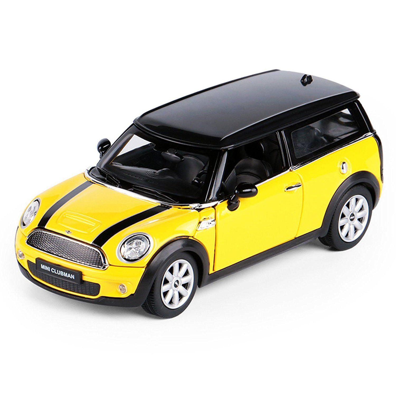 Rastar Yellow 1:24 2007 BMW Mini Clubman Metal Diecast Car