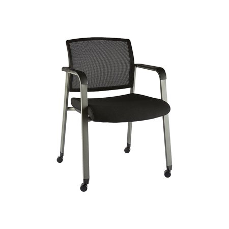 Staples Esler Mesh Guest Chair with Casters Black (51239)