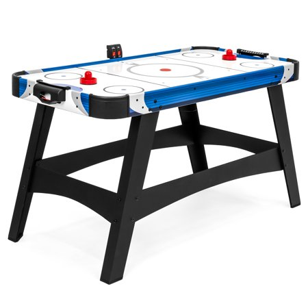 Best Choice Products 54in Air Hockey Table for Family Game Rooms, Arcade Style Fun for Kids and Adults, Electronic or Manual Scoring, Pucks & Strikers Included