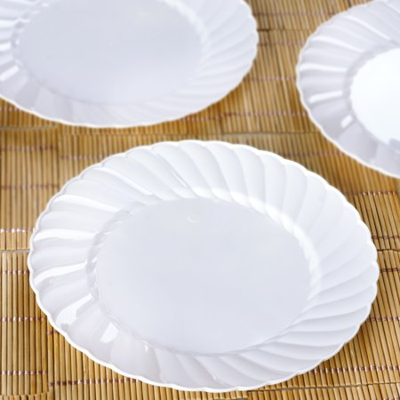 BalsaCircle Disposable Plastic Round Plates for Wedding Reception Party Buffet Catering - Halloween Party Tableware Uk