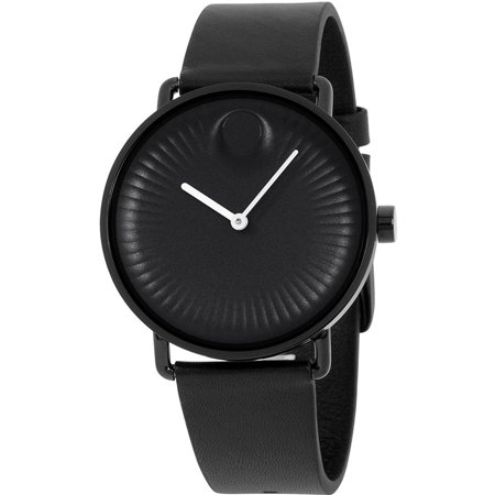 Men's 40mm Black Silicone Band Steel Case Sapphire Crystal Quartz Analog Watch 3680039