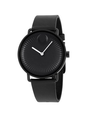 Movado Men's 40mm Black Silicone Band Steel Case Sapphire Crystal Quartz Analog Watch 3680039