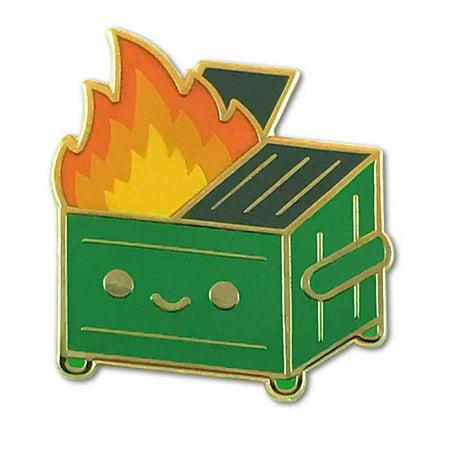 Lil Dumpster Fire Enamel Pin by 100% (Custom Enamel Pins)
