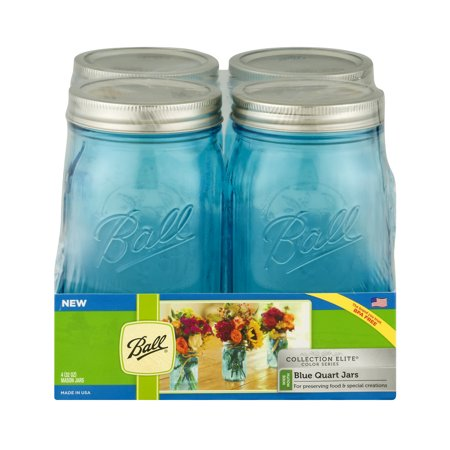 Ball Collection Elite Quart Jars Blue   4 Ct