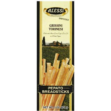 - Alessi Grissini Torinesi Pepato Breadsticks, 3 oz, (Pack of 12)