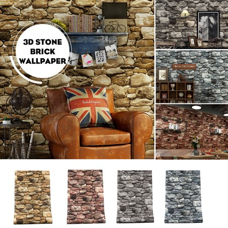 Wall Décor Wallpaper Hadrian Stone Wall Peel & Stick Wallpaper Waterproof for Home Design and Room Decoration, Large Size 10m x 0.53m / 393.7'' x