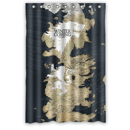 Ganma Game Thrones Map Stark Wolf Shower Curtain Polyester Fabric Bathroom on spooksville map, downton abbey map, narnia map, bloodline map, got map, justified map, jericho map, qarth map, camelot map, walking dead map, a storm of swords map, gendry map, world map, star trek map, guild wars 2 map, clash of kings map, dallas map, valyria map, winterfell map, jersey shore map,