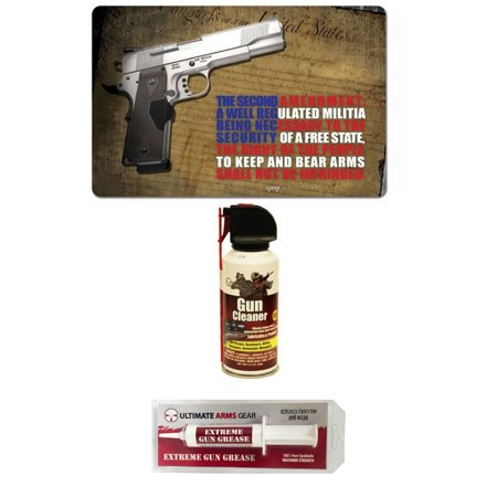 Gunsmith Cleaning Tool Gun Rifle Mat 2Nd Amendment Right To Bear Arms With 1911 Pistol   Pro Armorers Gun Cleaner Lubricant Preservative Jet Spray Safe Travel Range Field Can   Extreme Gun Grease