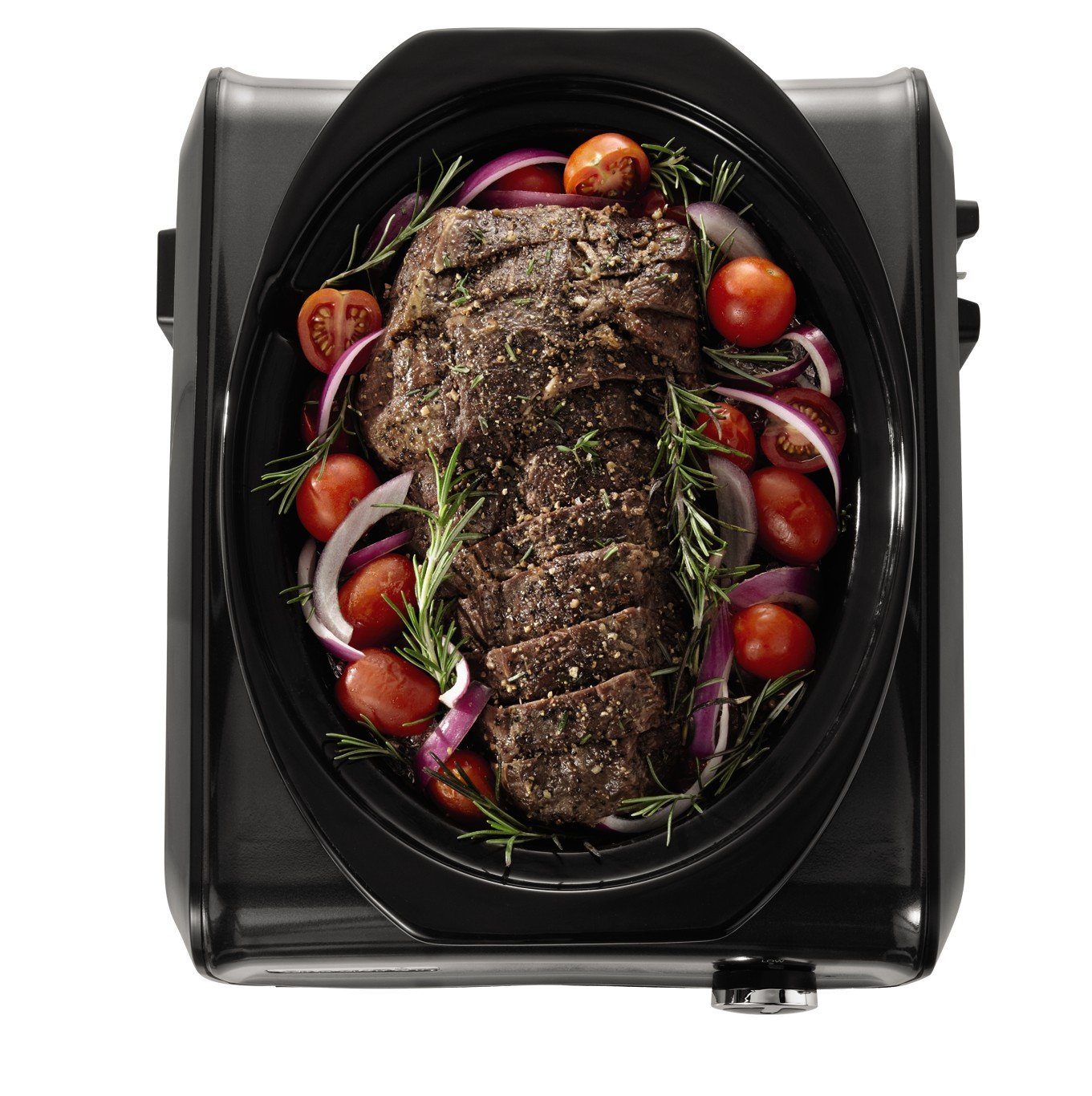 Crock Pot Hook Up Connectable Entertaining System, 3.5 Quart, Metallic  Charcoal