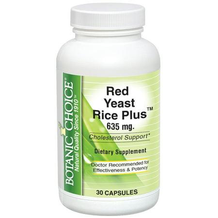 Botanic Choice Red Yeast Rice Plus, 30 - Rice Yeast Free Loaf