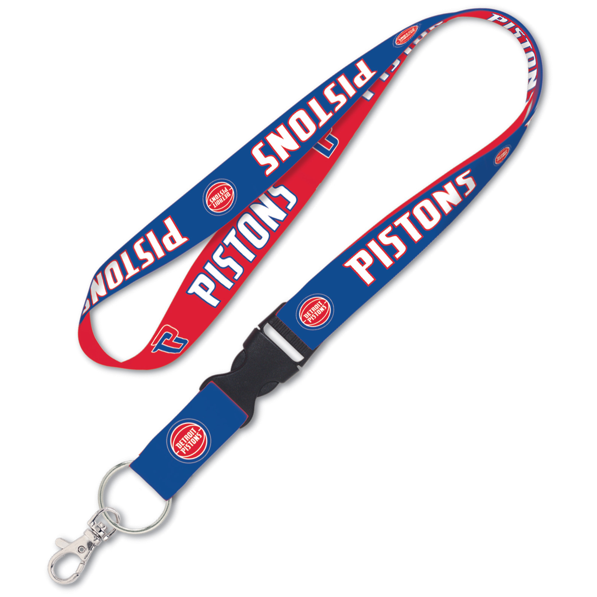 Detroit Pistons WinCraft Wordmark Lanyard with Detachable Buckle - No Size