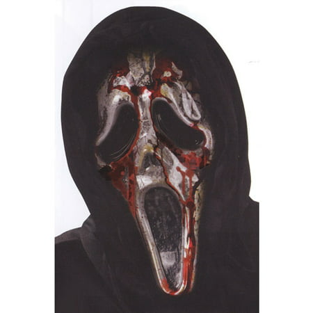 Ghost Face Bleeding Zombie Mask Adult Halloween Accessory - Halloween Glue Face Masks