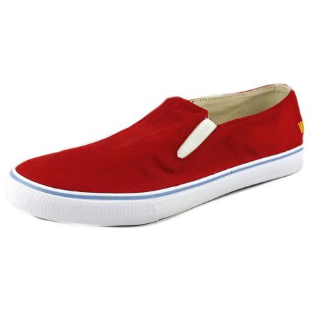 Red Canvas Shoes (Generic Surplus McNairy Surplus Slip Men  Round Toe Canvas Red)