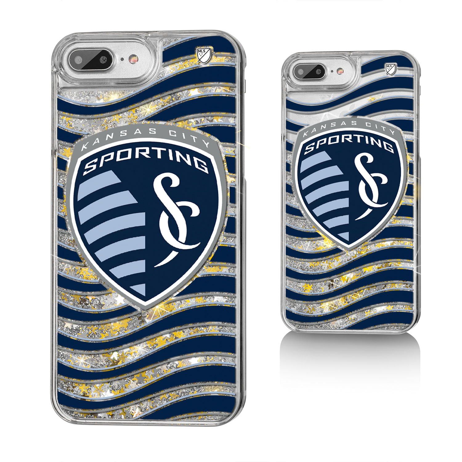 Sporting Kansas City SPORTING Wave Glitter Case for iPhone 8 Plus / 7 Plus / 6 Plus