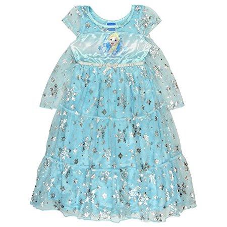 Disney Princess Frozen Elsa Girls Fantasy Gown Nightgown (10 ...