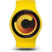 Ziiiro Unisex Gravity Banana Plastic Watch - Yellow Rubber Strap - Yellow Dial - Z0001WY