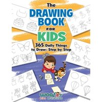 The Drawing Book for Kids : 365 Daily Things to Draw, Step by Step (Woo! Jr. Kids Activities Books)