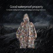 Mgaxyff Waterproof Poncho,Outdoor Sports Waterproof Poncho Multifunctional Lightweight Camouflage Rain Coat, Multifunctional Rain Poncho
