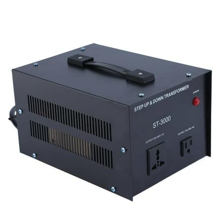 Varistor Circuit Protection - ELC T-3000 3000 Watt Voltage Converter Transformer Step Up/Down Circuit Breaker Protection