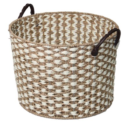 Better Homes & Gardens Seagrass Basket-White