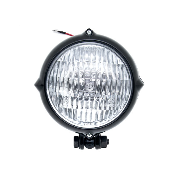 Vintage Style Black Motorcycle Headlight Retro For Harley Davidson Sport Tour Glide FXRT - image 3 de 6